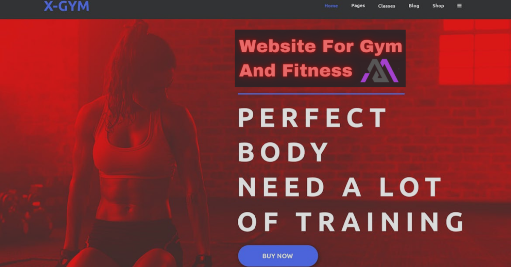 website for gym and fitness
